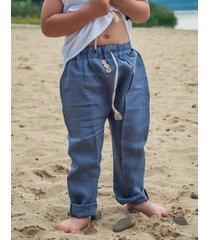 spodnie lniane stripe