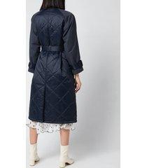 barbour x alexa chung women's delia quilted jacket - dk navy - uk 8