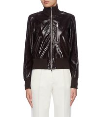 'aviator' zip lambskin leather bomber jacket
