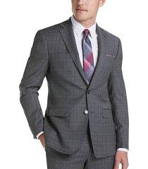 calvin klein gray plaid x-fit men's suit - size: 40 long