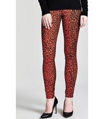 jeansy model skinny w zwierzęcy print