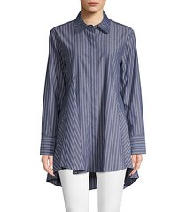 striped cotton long-sleeve shirt