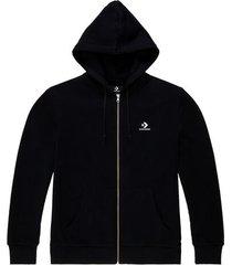 geborduurde star chevron full zip hoodie