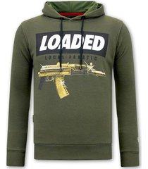 sweater local fanatic hoodie print loaded gun