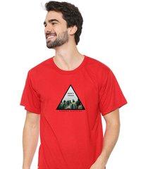 camiseta sandro clothing dont touch vermelho - vermelho - masculino - dafiti