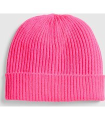 lane bryant women's pink ribbed knit beanie onesz knockout pink