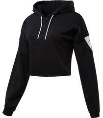 buzo negro reebok meet you there hoodie