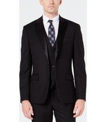 ryan seacrest distinction men's slim-fit stretch black tuxedo jacket, created for macy's