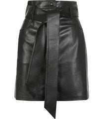 nanushka meda a-line western mini skirt