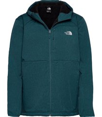 m quest hooded softs outerwear sport jackets blå the north face