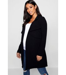 maternity double breasted duster jacket, black