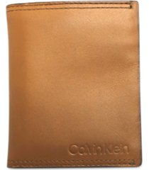 calvin klein men's leather bi-fold wallet