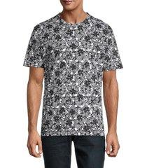 robert graham men's ashland printed t-shirt - black - size xl