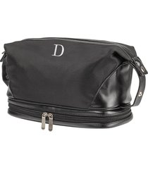cathy's concepts monogram toiletry bag, size one size - black d