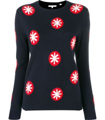 chinti and parker snowflakes knitted sweatshirt - blue