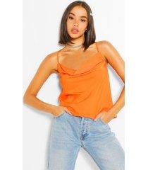 geweven hemdje met col, oranje