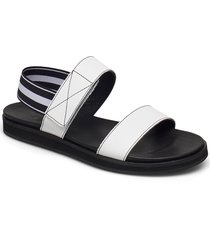 lissy black leather shoes summer shoes flat sandals vit flattered