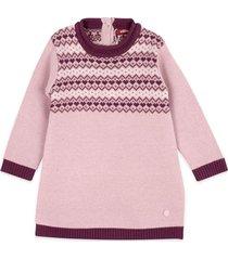 vestido tejido bebe niña rosado  pillin