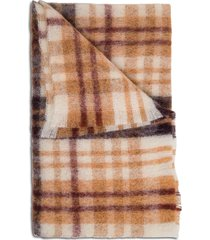 momonì laon wool check scarf