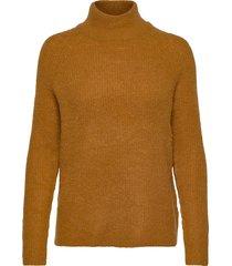 fxtiwarm 2 pullover stickad tröja gul fransa