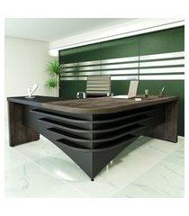 mesa escrivaninha diretor em l artany lado direito terrano e preto