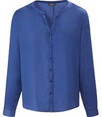 blouse in iets langer model met lange mouwen van basler blauw