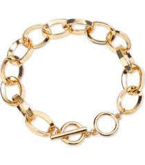 inc gold-tone large link toggle bracelet, created for macy's
