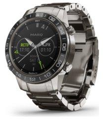 garmin mens marq aviator stainless titanium strap smart watch, 46mm
