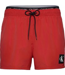 short double wb zwemshorts rood calvin klein