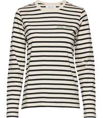 hekla t-shirt ls st 11448 t-shirts & tops long-sleeved zwart samsøe samsøe