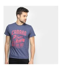 camiseta camaro live fast masculina