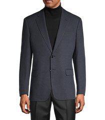 standard-fit cross-check blazer