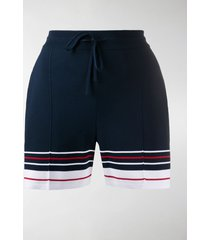 thom browne double cricket stripe pintuck shorts