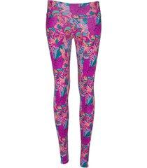 leggings deportivo tobillero estampado mujer rosado magenta tykhe violet