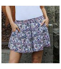 rayon shorts, 'pretty in paisley' (indonesia)