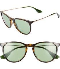 women's ray-ban erika classic 54mm sunglasses - red black/ dark blue solid