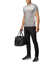 boss men's philix slim-fit colour-block polo shirt