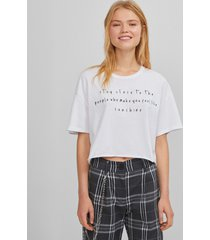 cropped t-shirt uv-reactie