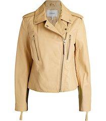 pebbled leather moto jacket