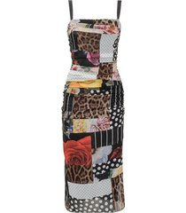 dress with patchwork