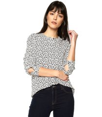 blusa blanco-negro tommy hilfiger