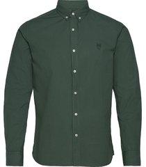 larch ls owl shirt - gots/vegan overhemd casual groen knowledge cotton apparel
