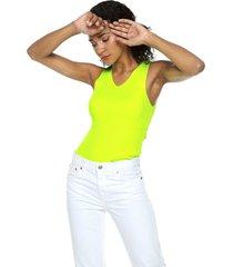 camiseta esqueleto amarillo neón mng