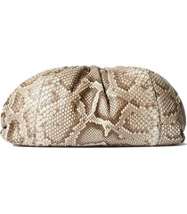 the pouch large python clutch