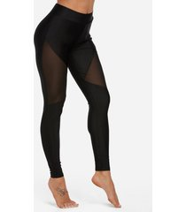 leggings deportivos de cintura media negros