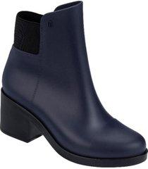 botin mujer azul negro melissa elastic boot