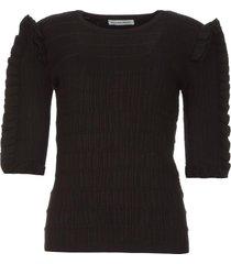 sweater met ruches alastor  zwart