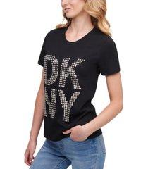 dkny embellished logo t-shirt