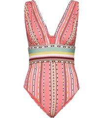 alvina swimsuit baddräkt badkläder rosa by malina