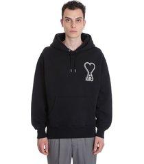 ami alexandre mattiussi sweatshirt in black cotton